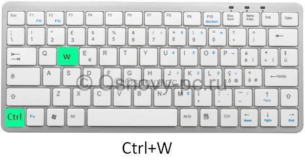 Ctrl + W