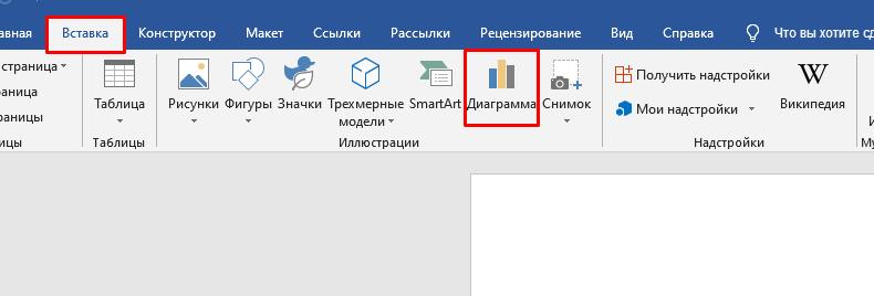 Создание диаграмм на современных изданиях офиса