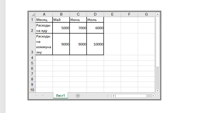 Создать диаграмму по таблице в современном издании офиса