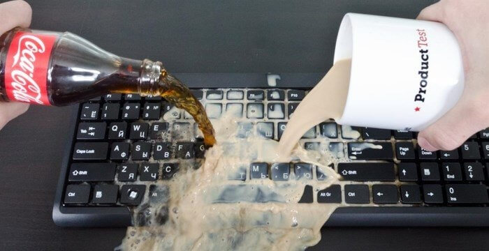 Чистим комплект клавиш