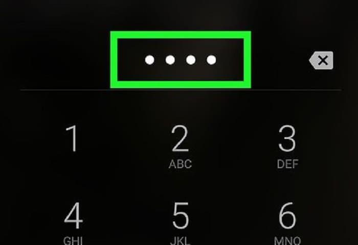 Установка пароля на телефоне
