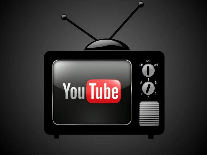 Телевизор с значком Ютубб